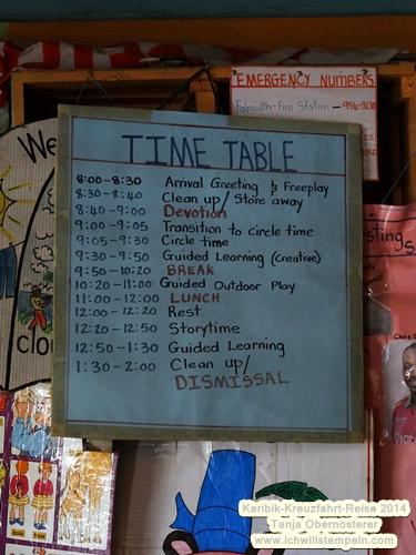 Schule time table jamaika