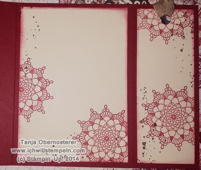 Delicate Doilies Weihnachtskarte