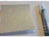 Glitzerpapier einfaerben Spritzer 1