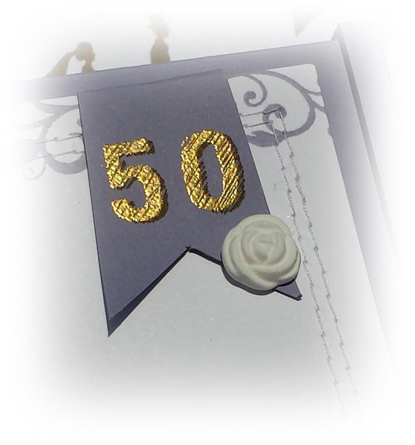 GoldeneHochzeitskarte 50 wimpel  -ichwillstempeln