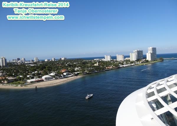 Abfahrt von Fort Lauderdale
