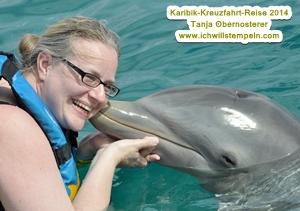 Delphinkuss cozumel Tanja