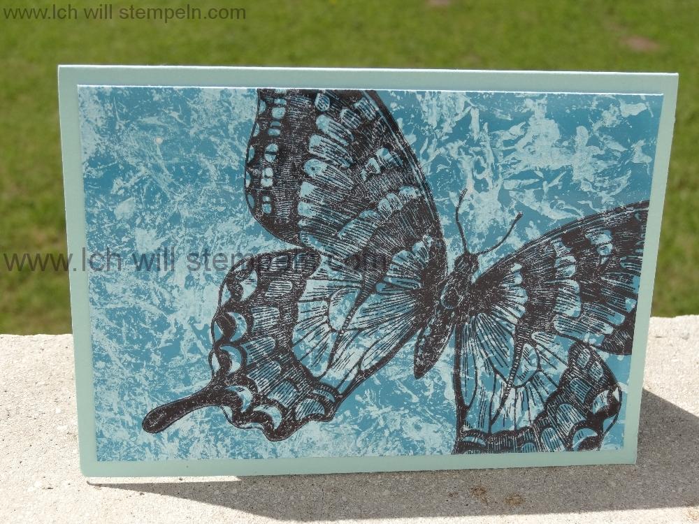 Perlmut-Technik mit Schmetterling | Ich will stempeln
