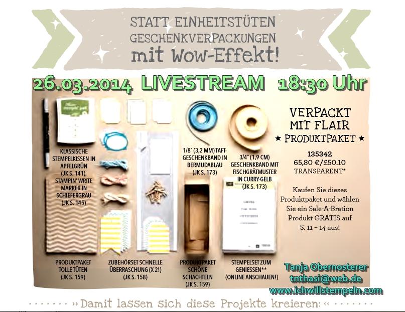 LIVE STREAM verpackt mit Flair