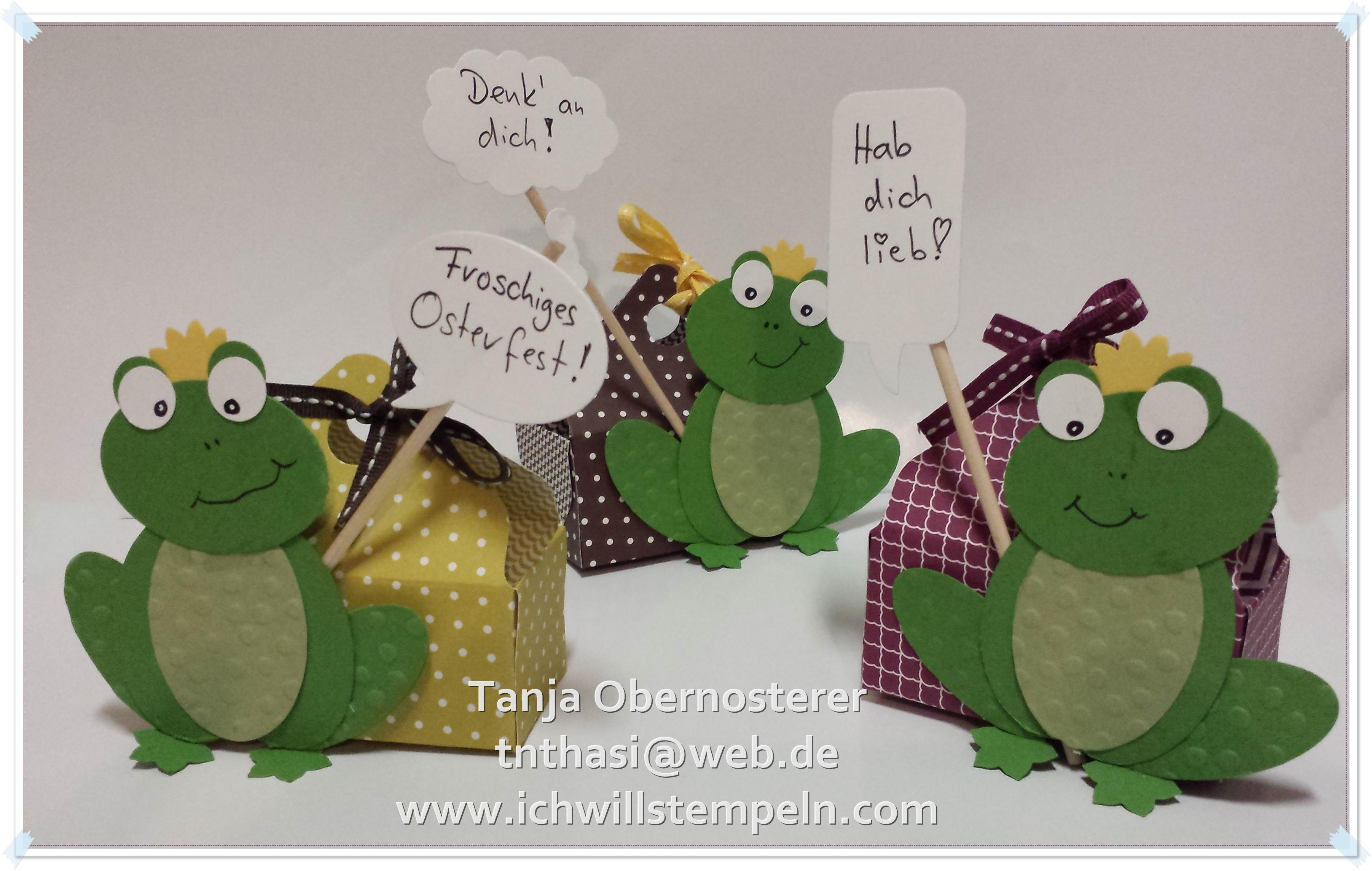 Frosch mit Körbchen - ichwillstempeln.com