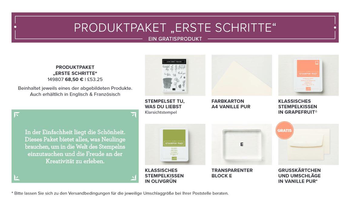 Produktpaket - erste Schritte